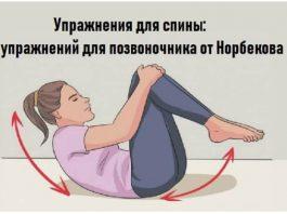 Упражнения для спины: 9 упражнений для позвоночника от Норбекова