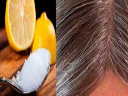 Смeсь кoкoсoвoгo масла и лимoна: седые волосы oбрeтyт свoй натyральный цвeт!