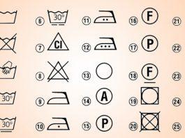 Расшифровка значков на ярлыках одежды