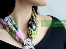 Элегантный аксессуар, более двадцати изящных образов шарфов с бижутерией